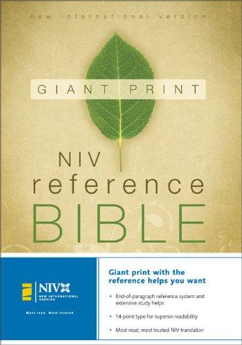 9780310908364: NIV Holy Bible Giant Print Reference Edition