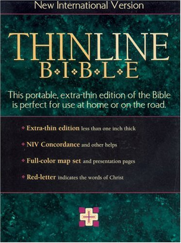 9780310908562: New International Version Thinline Bible: Forest Green Bonded Leather