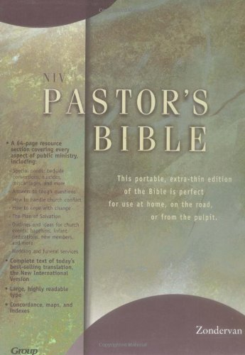 9780310910930: Niv Pastor's Bible