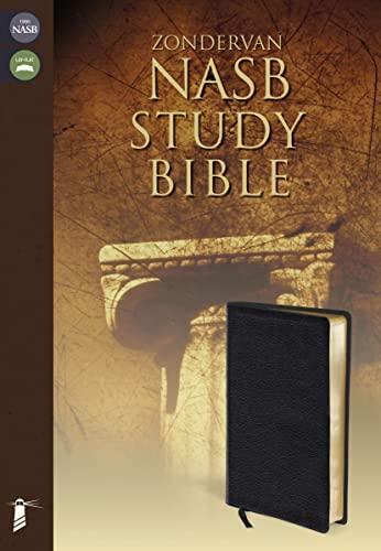 9780310910978: NASB, Zondervan NASB Study Bible, Bonded Leather, Black, Thumb Indexed