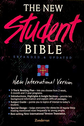 9780310911029: The New Student Bible: New International Version/Tea Rose Bonded Leather