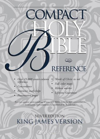 9780310911081: KJV Holy Bible Compact Reference, Silver Edition Button Flap