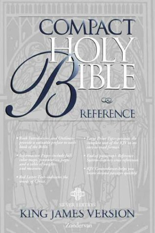 9780310911104: KJV Holy Bible Compact Reference, Silver Edition Button Flap