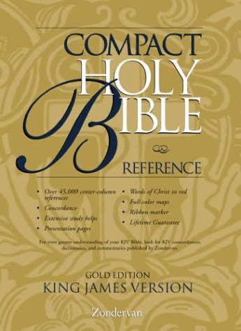 9780310911111: KJV Holy Bible Compact Reference, Gold Edition Button Flap