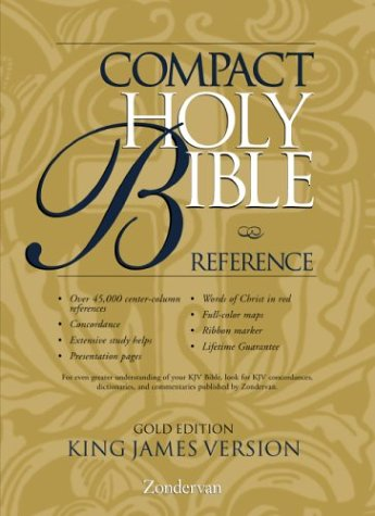 9780310911135: KJV Holy Bible Compact Reference, Gold Edition Button Flap
