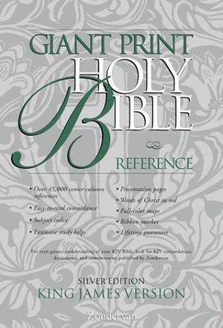 9780310911173: KJV Giant Print Reference Bible, Silver Edition