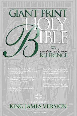 9780310911180: KJV Giant Print Reference Bible, Silver Edition