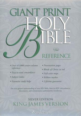 9780310911197: KJV Giant Print Reference Bible, Silver Edition