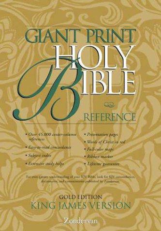 9780310911364: KJV Giant Print Reference Bible, Gold Edition