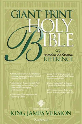 KJV Holy Bible Giant Print Reference, Gold Edition