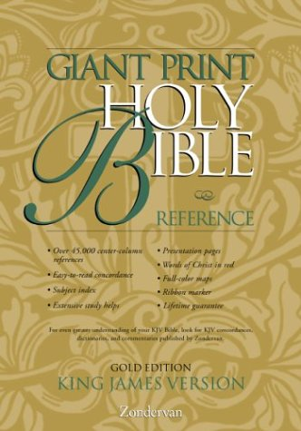 9780310911401: KJV Holy Bible Giant Print Reference Gold Edition