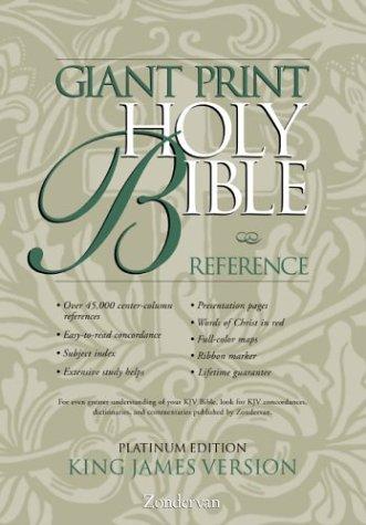 9780310911524: KJV Holy Bible Giant Print Reference, Platinum Edition