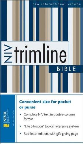 9780310912019: NIV Trimline Bible, Burgundy, Bonded Leather, 1984