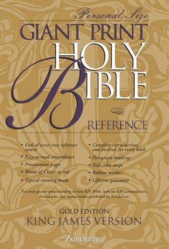 9780310912248: KJV Holy Bible Giant Print Personal Size Reference Gold Edition