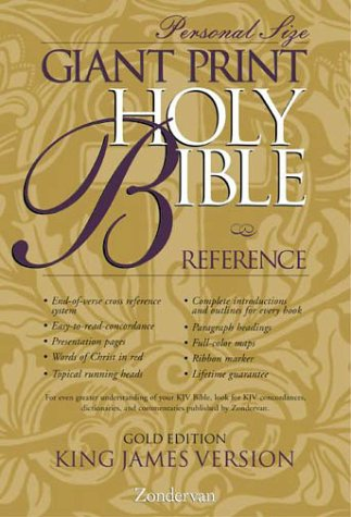 9780310912286: KJV Holy Bible Giant Print Reference Personal Size Gold Edition