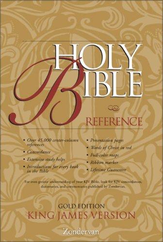 9780310912309: KJV Holy Bible Reference, Gold Edition
