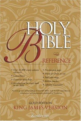 9780310912323: KJV Holy Bible Reference, Gold Edition