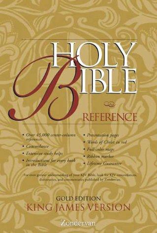 9780310912347: KJV Holy Bible Reference, Gold Edition