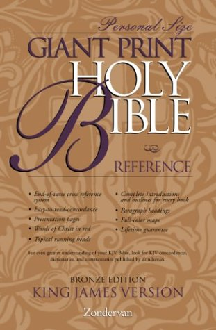 9780310912521: KJV Giant Print Reference Bible, Personal Size