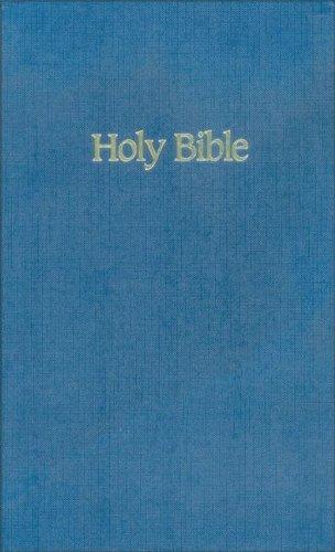 9780310912910: NIV Ministry/Pew Bible (Blue )