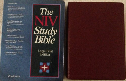 9780310914600: The Niv Study Bible (Burgundy Bonded Leather)