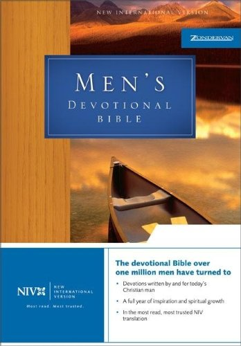 NIV Mens Devotional Bible 9780310915942 The devotional Bible over 1 million men have turned to Devotions written by and for today's Christian man A full year of inspiration and spiritual growth In the most read, most trusted NIV translation A Bible for, by, and about today's man Whether you're a father or grandfather, singled or married, the NIV Men's Devotional Bible is written for you. Fifty-two weeks of devotions---an entire year of insight and perspectives from over 100 contributors from all ages and walks of life---will challenge you, deepen your understanding of God, and help you serve him more faithfully. The topics are broad, the issues important: Commitment. Friendship. Money. Anger. Disappointment. Fatherhood. Stress. Integrity. Servanthood. Work. Worship. Day by day, the NIV Men's Devotional Bible challenges you to be a man of courage and vision, giving you the tools to develop a powerful and productive life of faith in Christ. Features A full year of weekday and weekend devotions located near the designated Scripture provides spiritual growth and inspiration Devotional material written for men by over 100 well-known Christian men, including: Tom Landry, Billy Graham, Charles Stanley, Phillip Yancey, Chuck Swindoll, Ben Carson, Charles Colson, and James Dobson Subject index offers easy access to topics addressed in the devotions Author index with biographical information about each contributor Book introductions provide background and perspective on the Biblical narrative Double-column format Presentation page An entire year of devotions that challenge you to deepen your faith What kind of man would you like to be? Do you ever wish you had a wise mentor to be with you in the trenches, offering fresh perspective on the challenges you face at home, at work, and in the community? The NIV Men's Devotional Bible is a spiritual resource and daily compassion, offering you a higher perspective on the issues you grapple with in a down-to-earth world. Fifty-two wee