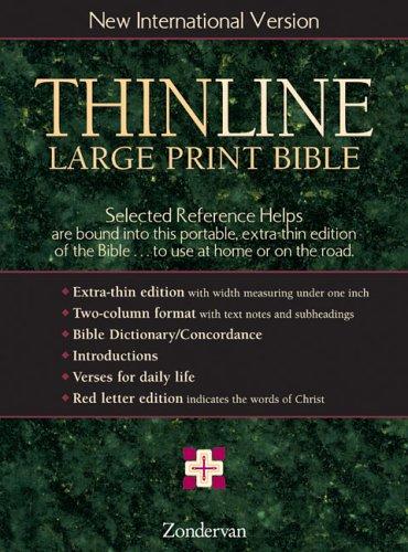 NIV Thinline Bible, Large Print, Indexed: Zondervan