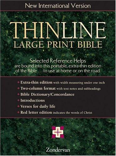 Thinline Large Print Bible, New International Version,: Zondervan
