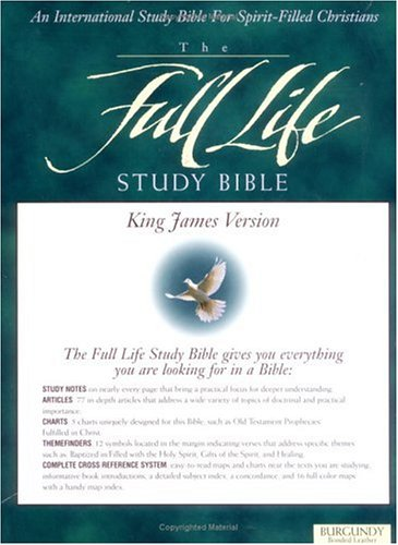 9780310917076: Full Life Study Bible: King James Version, Burgundy Bonded Leather