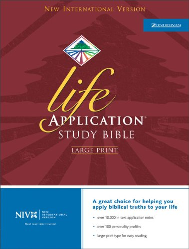 9780310917588: Holy Bible: New International Version Life Application Bible/ Large Print/ Navy Bonded Leather