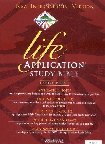 9780310917601: NIV Life Application Study Bible, Large Print, Indexed