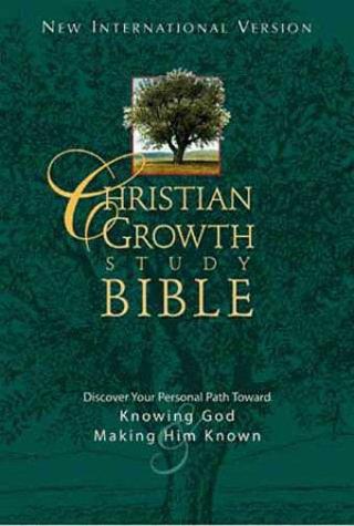 9780310918110: NIV Christian Growth Study Bible, Burgundy Bonded Leather