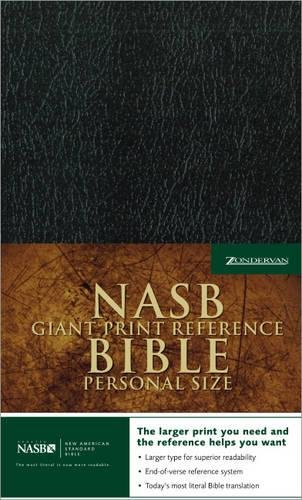 9780310919124: NASB Giant Print Reference Bible, Personal Size