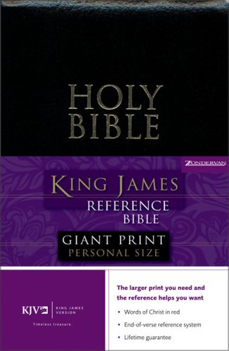 King James Reference Giant Print Personal Size Bible: Zondervan