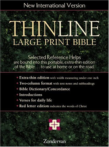9780310920229: Thinline Large Print Bible-NIV