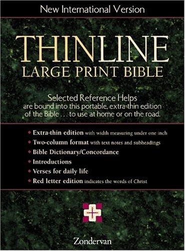 9780310920229: NIV Thinline Bible, Large Print