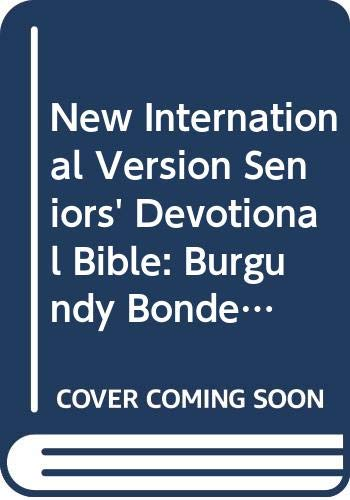 9780310921110: New International Version Seniors' Devotional Bible: Burgundy Bonded Leather