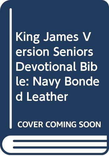 9780310921165: King James Version Seniors Devotional Bible: Navy Bonded Leather
