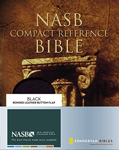 9780310921431: NASB Compact Reference Bible, Black w/Snap Flap
