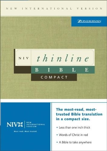 9780310921950: NIV Compact Thinline Bible: Premium Bonded Leather with Slide Tab in British Tan