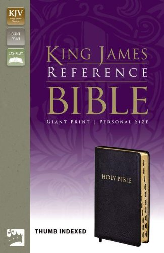 9780310922025: KJV, Reference Bible, Giant Print, Personal Size, Bonded Leather, Black, Indexed, Red Letter Edition