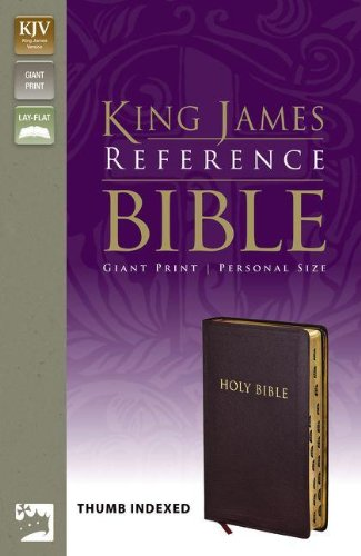 9780310922032: KJV, Reference Bible, Giant Print, Personal Size, Bonded Leather, Burgundy, Indexed, Red Letter Edition