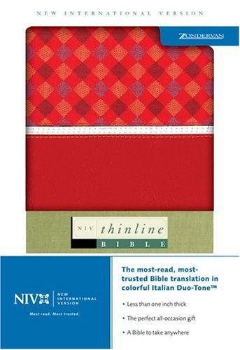 9780310922827: Thinline Bible: New International Version, Cherry/cherry Textured, Italian Duo-tone
