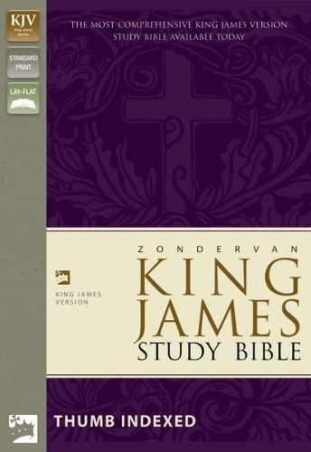 9780310923671: King James Study Bible: Burgundy, Bonded Leather