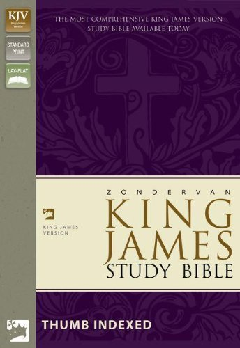 9780310923688: King James Study Bible: Black, Bonded Leather
