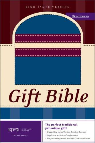KJV Gift Bible: Italian Duo-Tone, Blue/Burgundy/Cream: Zondervan