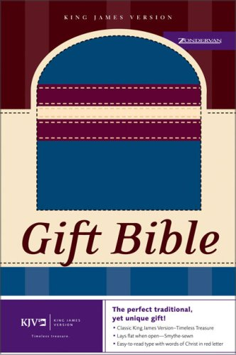 9780310924470: KJV Gift Bible: Italian Duo-Tone, Blue/Burgundy/Cream