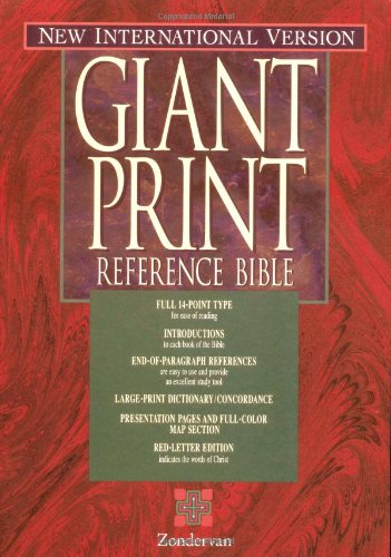 9780310924623: NIV Holy Bible Giant Print Reference Edition, Thumb Indexed, Black Leather-Look