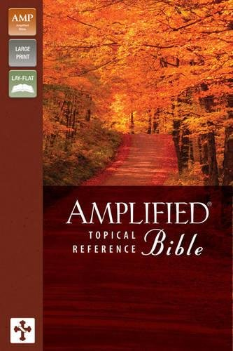 9780310925033: Amplified Topical Reference Bible, Imitation Leather, Tan/Burgundy