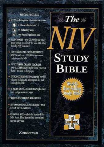 9780310925699: The Niv Study Bible/Burgundy Bonded Leather: The Niv Study Bible/10th Anniversary Edition/Burgundy Bonded Leather/Intro./Plain